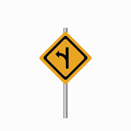 turn left: Turn left right road sign