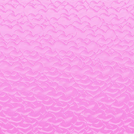 Red Valentine hearts background, more pink colors . Stock Photo - 7623862