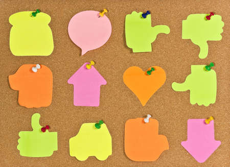 A corkboard interface with pinned items. Stock Photo - 7689155