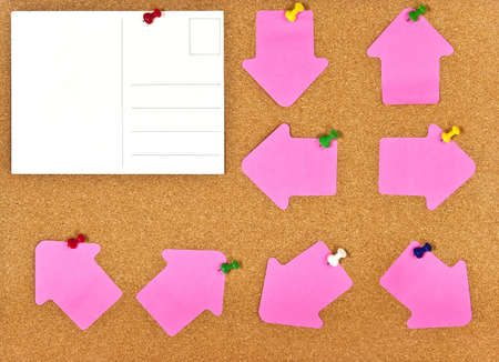 A corkboard interface with pinned items. Stock Photo - 7689166