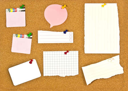 A corkboard interface with pinned items. Stock Photo - 7689169