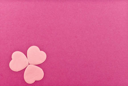 Valentines Day greeting card on the white background. photo