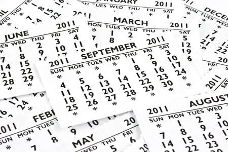 2011 calendar exteriors of the page. Month of September, the site is at the very top.