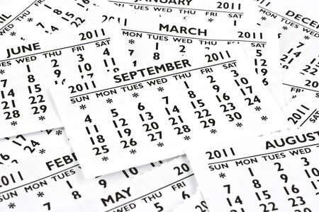 2011 calendrier ext�rieurs de la page. Mois de septembre, le site est tout en haut.