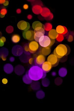 photoshop: Achtergrond defocused gekleurde lampen. Niet photoshop. Stockfoto
