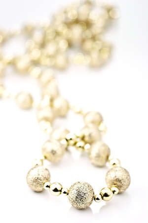 saltwater pearl: Necklace on a white background, the background is the rear bokhe.