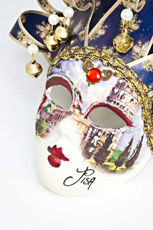Carnival in Venice,  Venetian Mask isolated on the white background. photo