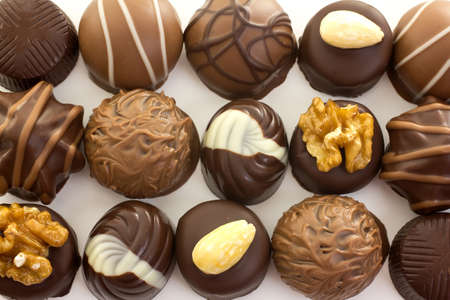 Asorted hocolate Candy on a white background. Stock Photo - 9748004