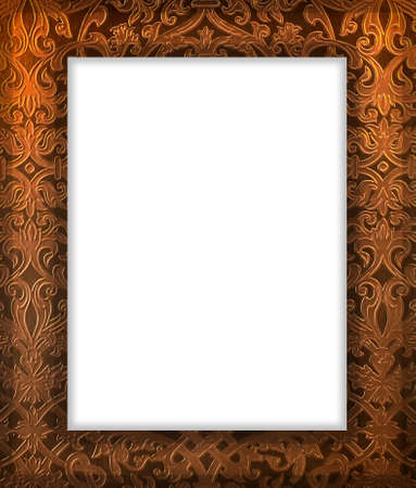 Frame isolated on the whitw background. photo