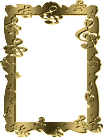 carved letters: Frame isolated on the white background.