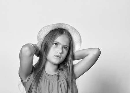Black and white portrait of young girls  photo