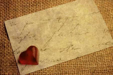 Old vintage heart background. Stock Photo - 17772612
