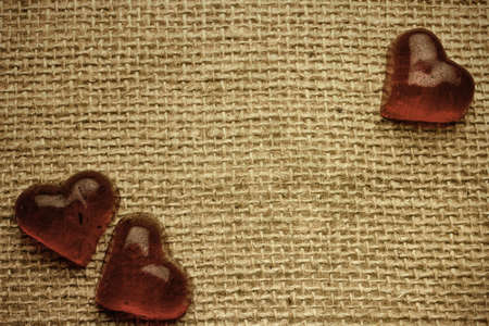 Old vintage heart background. photo