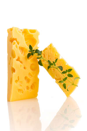 chees: Cheese isolated on the white background.