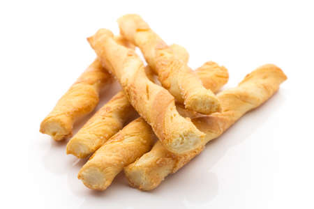 breadstick: Cheese sticks  isolated on the white background  Stock Photo