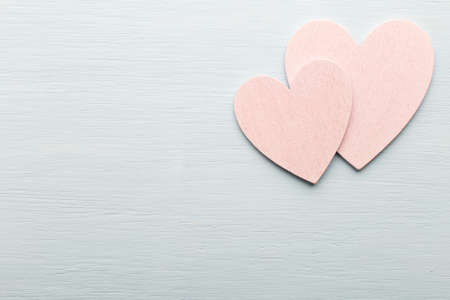 provencal: Heart on the wooden background. Provencal still.