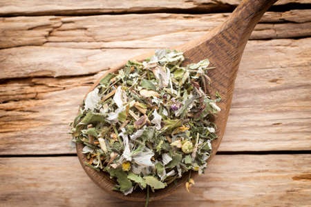 group of plants: tea, herbal, homeopathic, alternative, herb, food, organic, leaf, dry, green, medicine, health, drinks, drink, crop, healthy, nature, traditional, macro, wood, dried, leaves, culture, plant, freshness, therapy, still, group, plants, bunch, background, raw Stock Photo