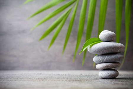 zen rocks: Stones spa treatment scene, zen like concepts. Stock Photo