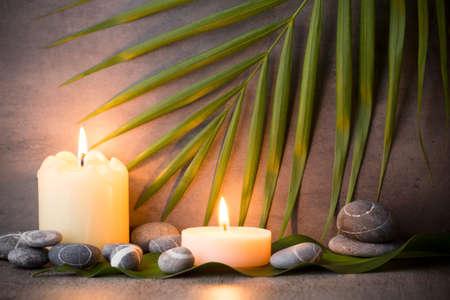 zen like: Stones spa treatment scene, zen like concepts. Stock Photo