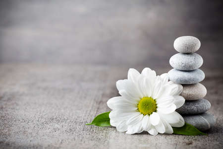 zen: Spa stones with flower