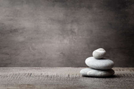 zen spa: Stones spa treatment scene, zen like concepts. Stock Photo