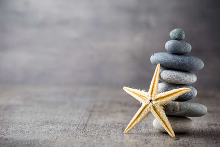 zen: Spa stones with starfish