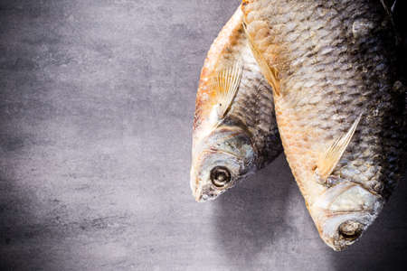 River perch salted, dried Banco de Imagens