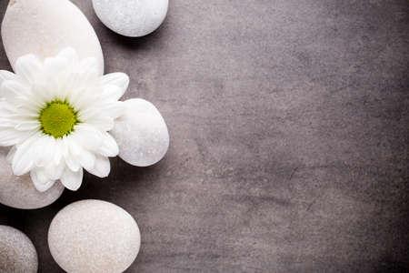 zen: Spa stones with flower