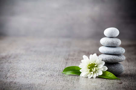 Spa stones treatment scene, zen like concepts.