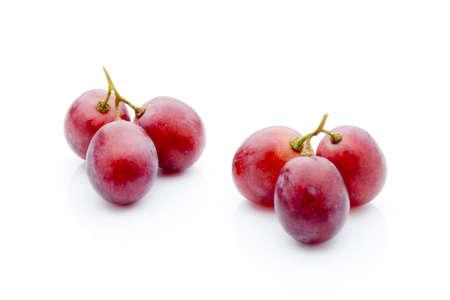 white grape: Grape on the white background. Fresh  berry. Stock Photo