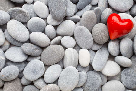 red pebble: Red heart of the spa stones.