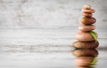 balances: Balances pyramids. Stock Photo