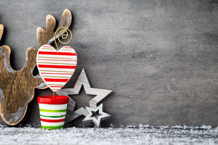 star ornament: Gray metal background, Christmas decoration.