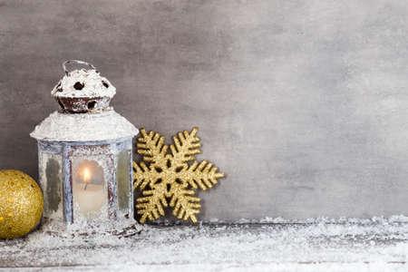 Kerst wenskaart. Symbool en decor. Stockfoto