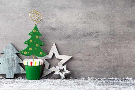 decoration: Christmas greeting card. Symbol and decor.