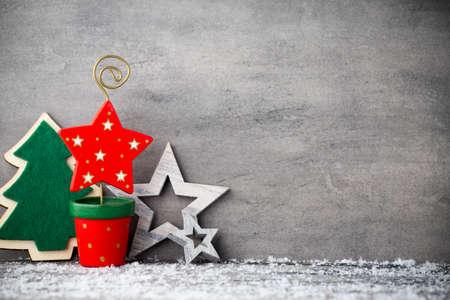 adornos navide�os: Fondo de la Navidad, tarjeta de felicitaci�n. Decoraci�n. Foto de archivo