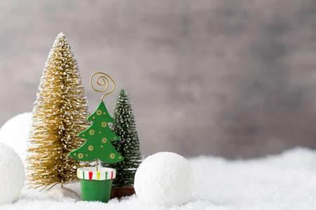 greeting christmas: Christmas greeting card, grey background.
