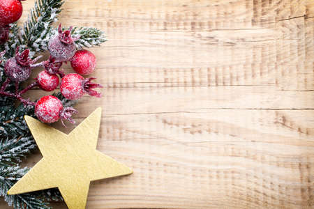 black empty board: Christmas background, greeting card. Decoration. Stock Photo