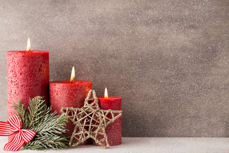 candela: Natale candele e luci. Natale sfondo.