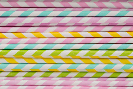 straws: Colorful drinking straws for smoothie.