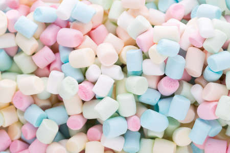 soft colors: Marshmallows. Background or texture of colorful mini marshmallows.