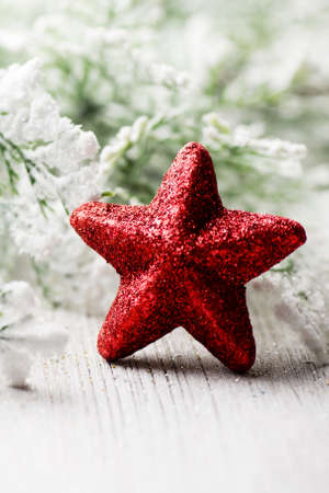 christmas decor: Christmas backgrounds. Christmas decor on the white wooden background.