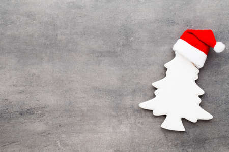 vintages: Christmas decor with santa hat. Vintages background.