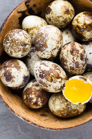 quail nest: Quail eggs in the nest, a symbol of spring.