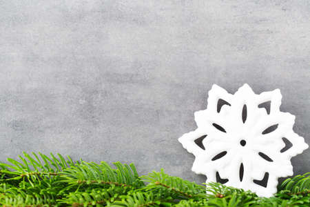 vintages: Christmas decor with white snowflake, Vintages background.