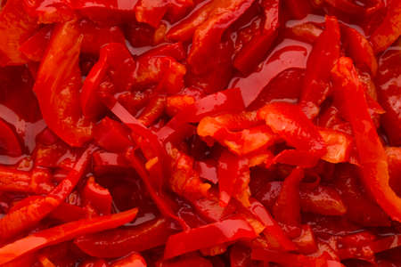 marinade: Red pepper marinade baked on grill. Stock Photo