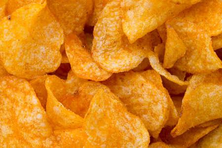 nosh: Potato chips on the papric. Eco food.