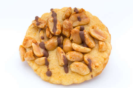 Cookies nuts on the  isolated on white background.