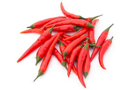 Chili pepper on the white background.