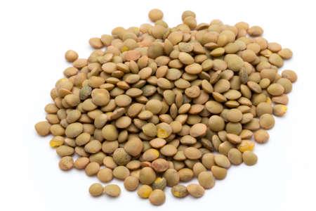 Lentils pulse legumes vegetables vegetarian food background.